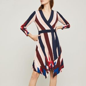 NWOT Bcbg Max Azria Asymmetrical Wrap Dress XS
